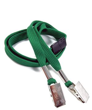LRB324B-GRN Green Conference Lanyards