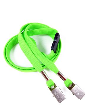 LRB324B-LMG Lime Green Conference Lanyards