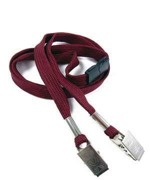 LRB324B-MRN Maroon Conference Lanyards