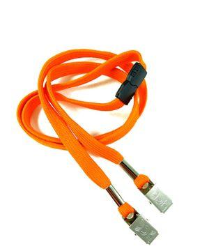 LRB324B-NOG Neon Orange Conference Lanyards