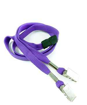 LRB324B-PRP Purple Conference Lanyards