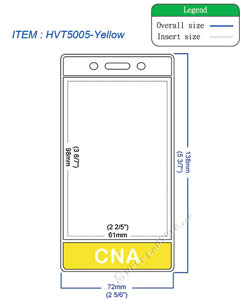 HVT5005 CNA title badge holder is a single pocket of vertical badge holder.