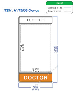 HVT5006 DOCTOR title badge holder is a single pocket of vertical badge holder.