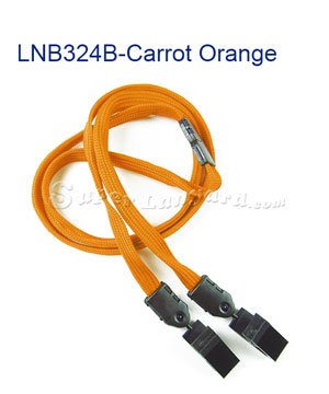 Carrot Orange Breakaway Lanyard